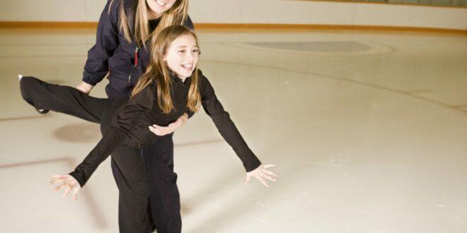 ice skating, ice rink, figure skating, winter activity, beachside, skating