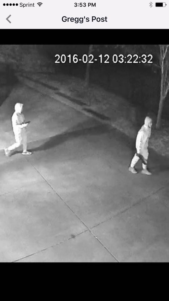Camera Footage of Armed Gunmen breaking into Pine Lakes Residence at 1:04 a.m.
