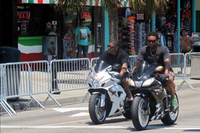 black bike week barricades