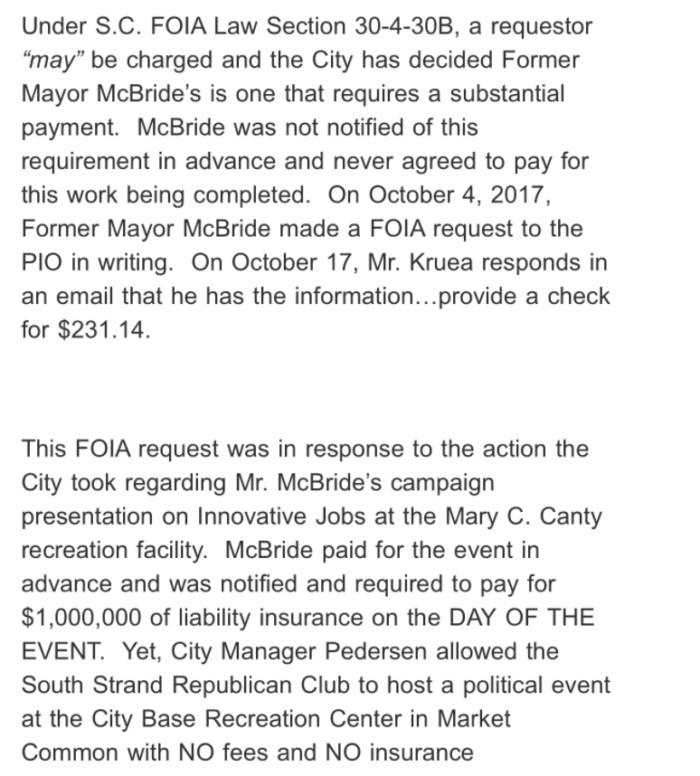 McBride Statements