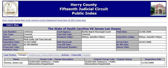 City Of Myrtle Beach Arrest Records