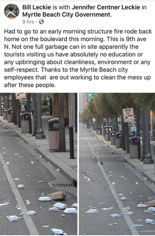 Myrtle Beach dirty streets