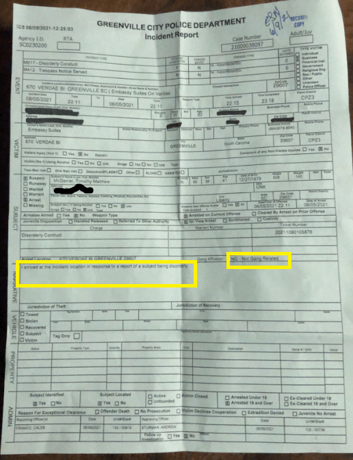 Arrest Records